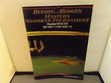 1987 BENSON & HEDGES MASTERS SNOOKER TOURNAMENT PROGRAMME - WEMBLEY