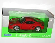 Welly - PORSCHE CAYMAN S (Red) - Die Cast Model - Scale 1:24