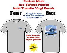 Custom Made Printed Eco Solvent Decal Heat Press Vinyl Iron On