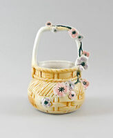 9997306 Porzellan Körbchen Korb Schale mit Blumen Ernst Bohne H14cm