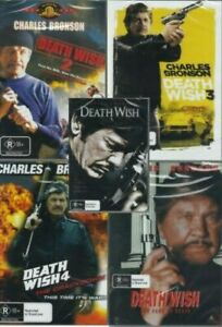 Death Wish Collection 1 -5 -  Charles Bronson New and Sealed DVD