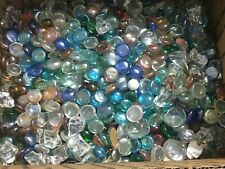 22 LBS POUNDS OF DECORATIVE GLASS VASE STONES ROCKS PEBBLES CLEAR MIXED COLORS