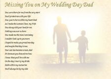 DAD.... - Missing You On My Wedding Day (laminated poem) FATHER OF THE GROOM