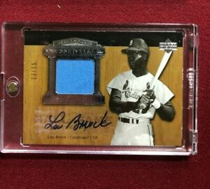 LOU BROCK 2005 UD HALL OF FAME ESSENTIAL ENSHRINEMENT JERSEY AUTO RELIC #/15