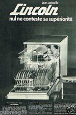 Publicité advertising 1972 Le Lave Vaisselle Lincoln
