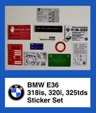 BMW E36 Sticker Set Decal Aufkleber 3-er 318is 320i 325tds Restoration Project