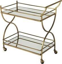Antique Gold Bar Cart WITH FREE CRYSTAL SET