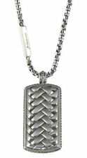 No Stone Sterling Silver Pendant Chains & Necklaces for Men
