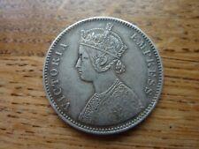 1882 India Victoria Empress Silver Rupee Coin(ref41)