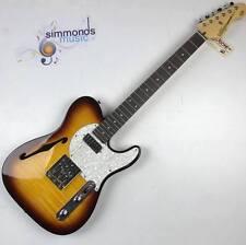 Vintage V72TL Deluxe FTB Custom Guitarra Eléctrica Spec TL ~ llama ráfaga de tabaco