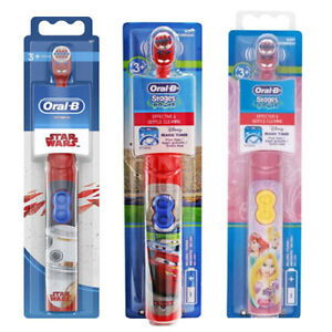 Oral-B Stages Power Kids Disney Cars Star ware Princess Battery Toothbrush