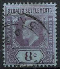 Malaya Straits Settlements 1902-3 SG#114, 8c Purple/Blue KEVII Used #A81931