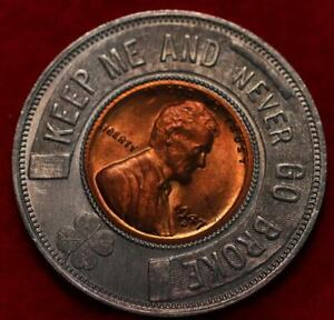 Uncirculated 1947-D Cass County Motor Co. Encased Penny