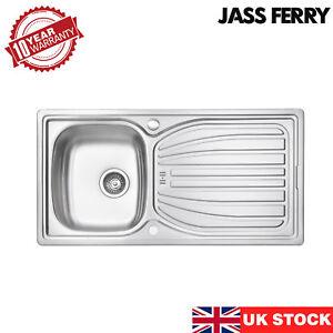 JASSFERRY New Stainless Steel Kitchen Sink Reversible Drainer 980 x 510 mm