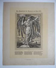 CRANE WALTER- GRAVURE SUR BOIS 1871 - EN MÉMOIRE DE LA COMMUNE DE PARIS