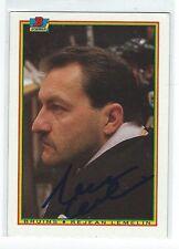 Rejean Lemelin Signed 1990/91 Bowman Card #32