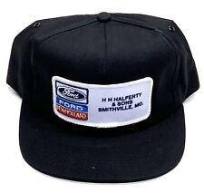 Vintage Ford New Holland K-Products Trucker Snapback Hat Cap H H Halferty & Sons