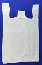 100 Qty 18 X 8 X 30 White Plastic T Shirt Retail Shopping Bags With Handles