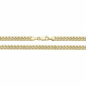 9ct Yellow Gold 22 Inch 4mm Cuban Curb Chain