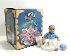 """Daddy's Clown Babies Girl Twinkle Doll Black African-American Collectible 5"""" Box"""