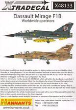 NEW 1:48 Xtradecal X48133 - Dassault Mirage F.1B Worldwide Operators
