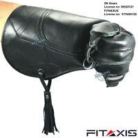 "Falconry Eagle Shiny Black Gloves 16"" Long Cuff Branded Quality"