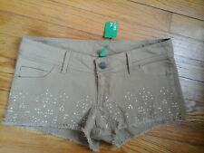 NEW WITH TAGS  BENETTON WOMAN'S SHORTS,  LIGHT BROWN  SIZE 4