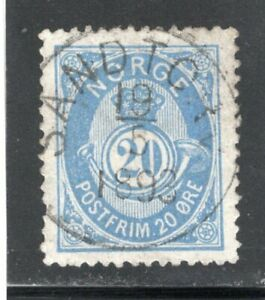 Norway used - Scott 44; NK 54 V - VF