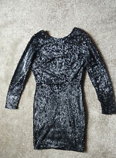 Sequin black open back dress