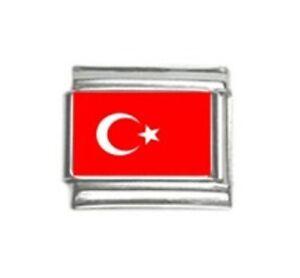 Italian Charms Charm Flags Turkey Turkish Flag