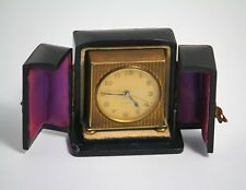 Zenith 8 day Swiss made travel alarm clock with original protective case