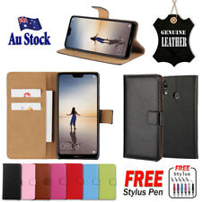 Genuine Leather Wallet Flip Case Cover For Huawei Nova 3e / P20 Lite & P20 Pro