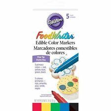 Wilton Food Writer Edible Color Markers Fine Tip .35oz 5/Pkg - Primary