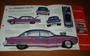 ★★1954 KAISER MANHATTAN ORIGINAL IMP BROCHURE INFO CUSTOM HOT ROD 54 WILLYS★★