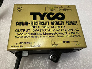 Vintage Tyco HO Scale Transformer Railroad Train Power Pack 899V Boxed