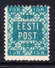 More details for estonia 1918 sg2a 15k blue perf 111/2 mounted mint little off-centre cat £250
