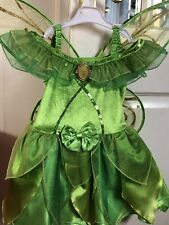 Disney Fairies Girls Tinkerbell Dress With Wings Age 4-5