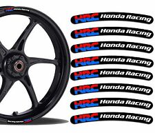 8 HRC HONDA RACING WHEEL RIM VINYL STICKERS STRIPES MOTO CAR BIKE MOTORCYCLE R29