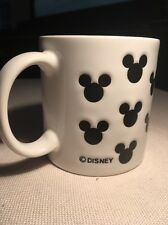 "Vintage  DISNEY Coffee Mug Cup W/ Mickey Mouse Silhouettes. 3.5"" High. 8 oz."