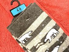 LADIES HIGH QUALITY THERMAL POLAR BEAR SKI WELLY BOOT SOCKS WOOL COTTON BAMBOO