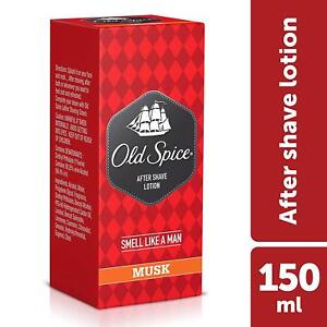 Old Spice After Shave Lotion - 150 ml (Musk) helps heal tiny razor cuts and nick