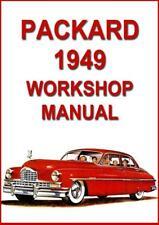 PACKARD 1949, CUSTOM EIGHT, SUPER EIGHT, DELXUE EIGHT, TAXICAB WORKSHOP MANUAL
