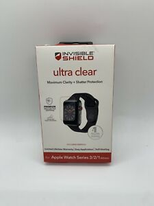 ZAGG - InvisibleShield Ultra Clear Screen Protector Apple Watch 42mm 3 2 1 clear
