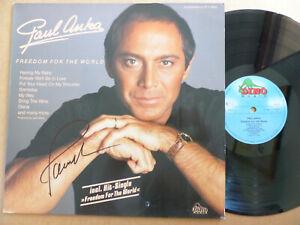 "PAUL ANKA signed Autogramm signiert ""FREEDOM FOR THE WORLD"" Vinyl Schallplatte"