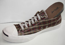 109772 Converse Jack Purcell Garment Dye Plaid Brown Low 11 and 11.5 Mens only