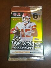 (1) 2020 Panini MOSAIC Football 6 Card Pack from Fat Value Hanger Pack