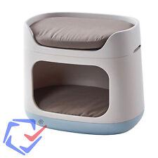 Curver Bunkbed 3 en 1 Transportín cesta para perros gatos Jaula Litera 2 niveles