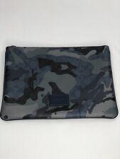 Coach Signature Canvas Blue Camo Print Large Tablet Case Pouch