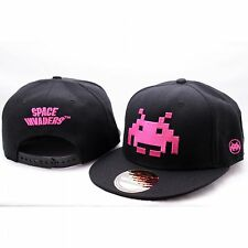 SPACE INVADERS PINK LOGO RETRO GAME BASEBALL HIP HOP CAP KAPPE MÜTZE SNAPBACK