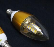 Lot of 6  - 110V AC 3W Warm White LED E12 Base Candelabra Candle Light Bulbs